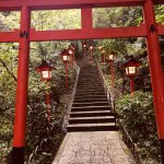 A short walk up the hill to a little shrine
