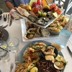 Seafood platter for 3 with gluten free portion for one