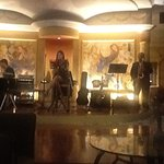 Live band performing in the sky lounge