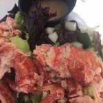 Lobster salad is loaded with lobster