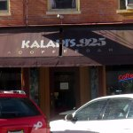 front of & entrance to Kaladi's Coffee Bar