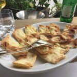 Focaccia bread with cheese