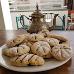 Fig pastries and tea