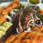 Sunday special  Grilled fish .