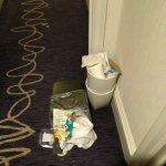 Left outside our room for 2 days and it wasn't our rubbish!!!!