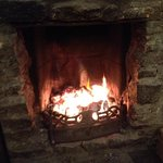 The lovely fire at the Bell and Bear at Emberton.