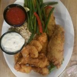 Fried shrimp and flounder, the guys said it was yummy!