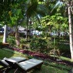 Le devant d bungalow de la chambre, le coté calme et Zen des lieux pour le coucher de soleil