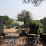 The patio for our room with view of chobe river