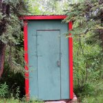Old outhouse - not in use.