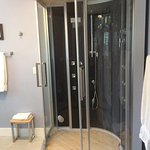 Private steam room/shower in the CynthiAnne suite.