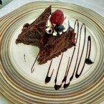 Tortada de chocolate y crema