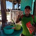 Omar making his famous guacamole