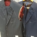 Suits and sport coat ready for second fitting.