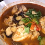 We tried both Clam + Oysters for our seafood stew