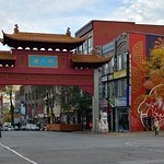 Entrance to China town as seen from hotel entrance