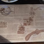 Placemat telling about the history