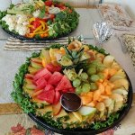 Fruit and veggie trays done by Mellie's New York Deli. My Thanksgiving guests loved everything!