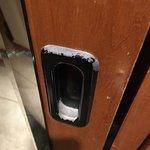 Handle of closet, room 1067