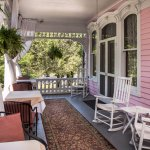 Wrap around Veranda...perfect spot for a glass of wine and dessert!