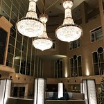 Gorgeous lobby and nice bathroom