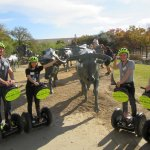 Segway tour of downtown Dallas and the bronze cattle drive.