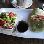 Portabello Wrap & Edamame Salad