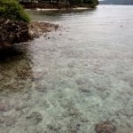 clear water surrounding the resort
