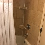 Tub/shower with piping hot water and lots of pressure