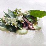 Kangaroo, oyster, native greens, fish sauce