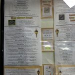 menu board for The Market House Restaurant