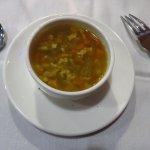 Eggdrop and sausage soup