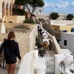 Walking to Thira from Mills Houses.