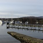 Over the road from the accommodation is Lake Windermere.