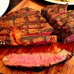porterhouse and scotch fillet at medium rare