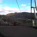 View from inside the cable car