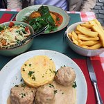 Highly recommend the veal meatballs