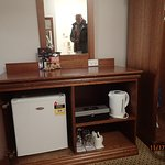 minibar, kettle, we requested and got a microwave