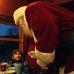 Santa appears