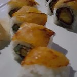 sushi topped with plaintain