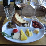 A selection of the local food to go with the wine