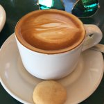 Cappuccino w shortbread biscuit...so good!!