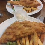 HUGE Fish & Chips in the Paul Pry...delicious!