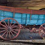 A large Conestoga wagon