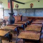 Inside the schoolhouse.