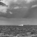 De snelboot naar Terschelling in volle vaart...
