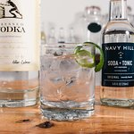 Dida's Distillery: a classic Vodka Tonic, but made with Navy Hill Soda Tonic - all the differenc
