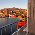 Storyteller, Maritime Museum of Tasmania in the middle of Hobart, the view of the finish line in