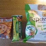 Free snacks.