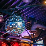 Mellow Mushroom Asheville, disco ball